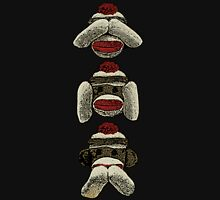 Three Wise Sock Monkeys Unisex T-Shirt