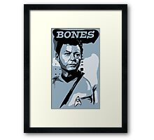 Doctor Bones McCoy - Star Trek TOS Framed Print