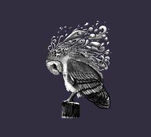 Owl in Black Unisex T-Shirt