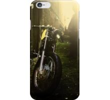 Cafe Racer in the Alley iPhone Case/Skin