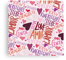Love Languages Canvas Print
