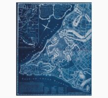 American Revolutionary War Era Maps 1750-1786 226 A plan of the city of New York & its environs to Greenwich on the North or Hudsons River and to Crown Point Inverted One Piece - Short Sleeve