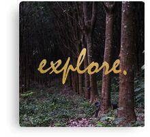 Explore Rubber Forest , Thailand Canvas Print