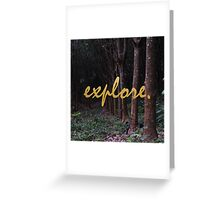 Explore Rubber Forest , Thailand Greeting Card