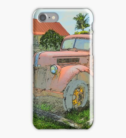 VINTAGE TRUCKS & CARS iPhone Case/Skin