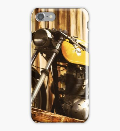 Cafe Racer on the Loading Dock iPhone Case/Skin