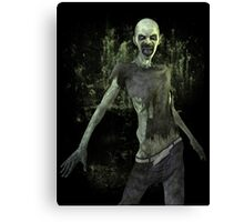 Scary Zombie T Shirt Canvas Print