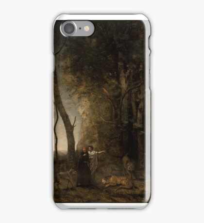 Dante and Virgil 1859 Jean-Baptiste-Camille Corot (French,  iPhone Case/Skin