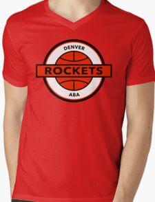 DEFUNCT - DENVER ROCKETS Mens V-Neck T-Shirt