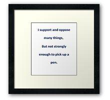 Bender wise words Framed Print