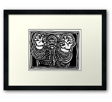 Zombie About to Brain You Framed Print
