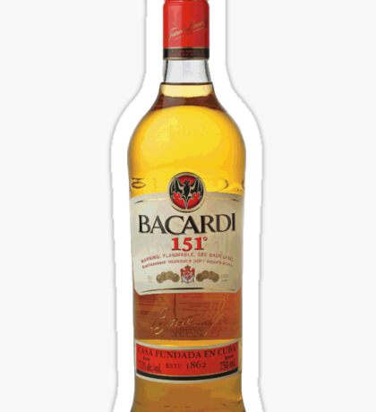Bacardi 151 Sticker
