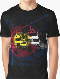 Colorado Ski Lift Graphic T-Shirt