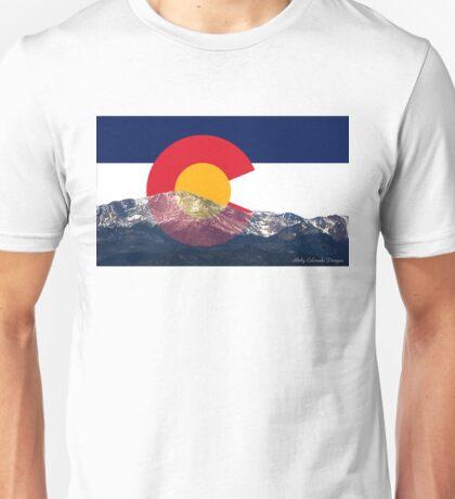 Pikes Peak Colorado Flag Unisex T-Shirt