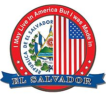 I may live in America but I was born in El Salvador Photographic Print