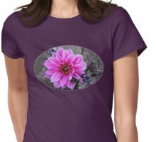 Twilight Dahlia with Texture Womens Fitted T-Shirt