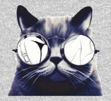 Vintage Cat Wearing Glasses One Piece - Short Sleeve