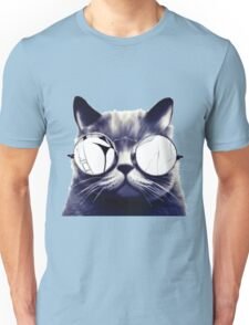 Vintage Cat Wearing Glasses Unisex T-Shirt