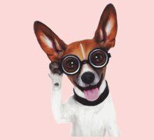 Dog Wearing Glasses 1 One Piece - Short Sleeve