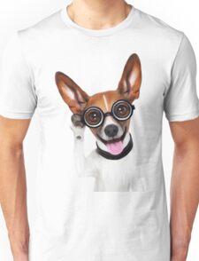 Dog Wearing Glasses 1 Unisex T-Shirt
