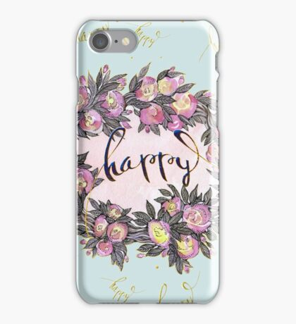 Happy. iPhone Case/Skin