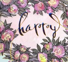 Happy. Sticker
