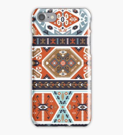 Seamless colorful pattern in tribal style iPhone Case/Skin
