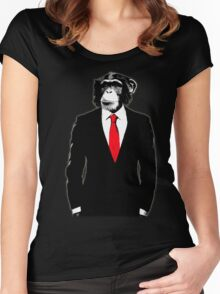 Domesticated Monkey Women's Fitted Scoop T-Shirt