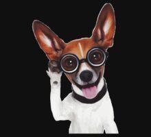 Dog Wearing Glasses 2 One Piece - Short Sleeve