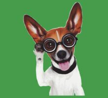 Dog Wearing Glasses 2 Baby Tee