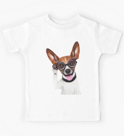Dog Wearing Glasses 2 Kids Tee