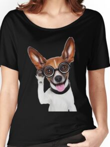 Dog Wearing Glasses 2 Women's Relaxed Fit T-Shirt