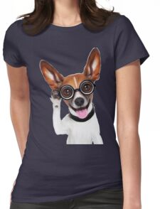 Dog Wearing Glasses 2 Womens Fitted T-Shirt
