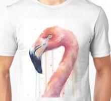 Flamingo Art Watercolor Unisex T-Shirt