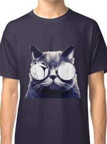 Vintage Cat Wearing Glasses Classic T-Shirt