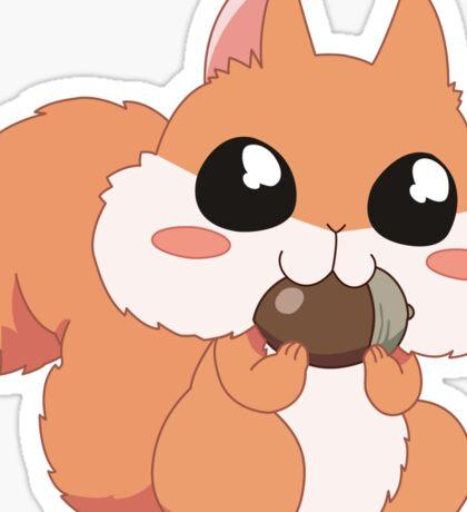 Chipmunk eating a nut Sticker