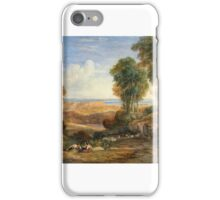 David Cox - The Junction of the Severn and the Wye with Chepstow in the Distance  iPhone Case/Skin