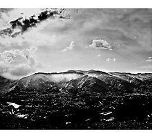 Valley under clouds Photographic Print