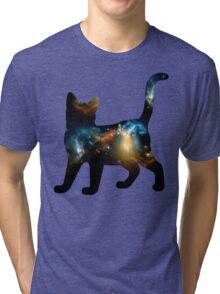 CELESTIAL CAT 3 Tri-blend T-Shirt