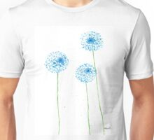 Blue flowers watercolor Unisex T-Shirt