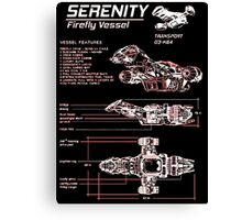 srenity blueprint Canvas Print