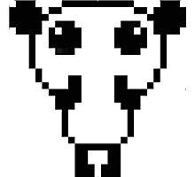 Cute pixel art panda Photographic Print