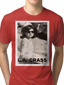 Jackie Kennedy Onassis - L.A. CRASS Tri-blend T-Shirt
