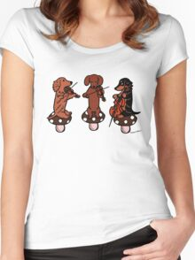 Dachshund Musicians String Trio Women's Fitted Scoop T-Shirt