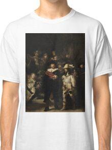 Rembrandt Harmensz van Rijn - The Night Watch  Classic T-Shirt