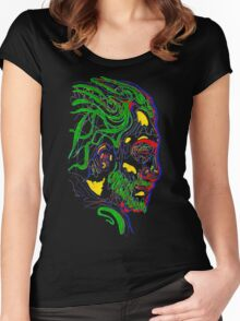 Psychedelic face Women's Fitted Scoop T-Shirt