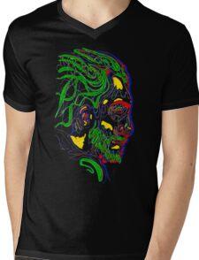 Psychedelic face Mens V-Neck T-Shirt