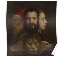 Tiziano Vecellio, Titian - An Allegory of Prudence Poster