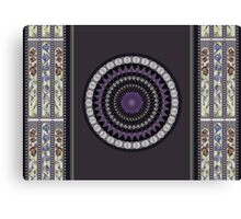 Mandala and stain glass Canvas Print
