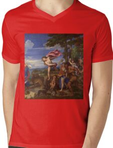 Tiziano Vecellio, Titian - Bacchus and Ariadne  Mens V-Neck T-Shirt